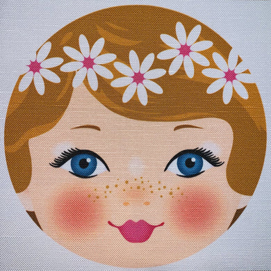 Ooshka Babushka Doll Face - Ginger Hair with Blue Eyes