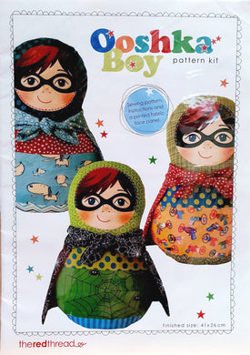 Ooshka Babushka Pattern Kit with Masked Boy