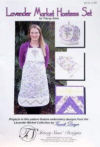 Lavender Market Hostess Set - 4 Different Patterns