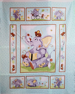 "Susybee Baby Panel ""Knightley, the Elephant"""
