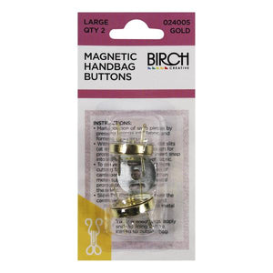 Magnetic Handbag Buttons Large GOLD