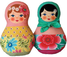 Load image into Gallery viewer, Ooshka Babushka Pattern Kit - Black Hair with Blue Eyes
