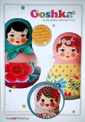 Ooshka Babushka Pattern Kit - Black Hair with Blue Eyes