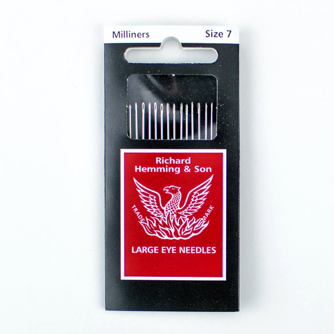 Richard Hemming & Son Large Eye Needles, Milliners Needles - Size 7