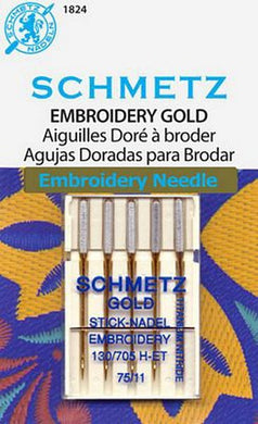 Schmetz Gold Embroidery Machine Needles