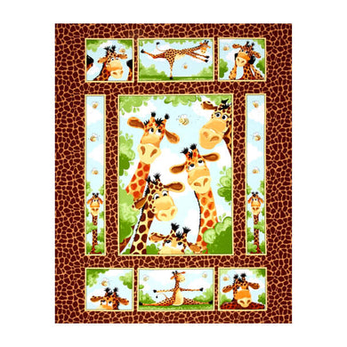 Susybee Zoe the Giraffe Quilt Panel #SB20255-280