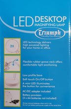 Load image into Gallery viewer, Triumph LED Desktop Magnifying Lamp – White