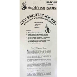 Matilda's Own Arm Wrestler Sharp Point Scissors MN-AW165SP