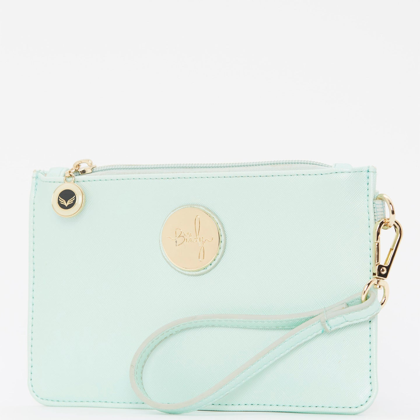 Birdy Wristlet Clutch | Mint • Gold