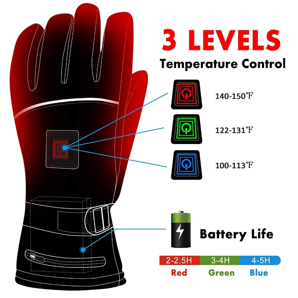 Unisex Electric Heating Gloves (120-Day Money Back Guarantee)