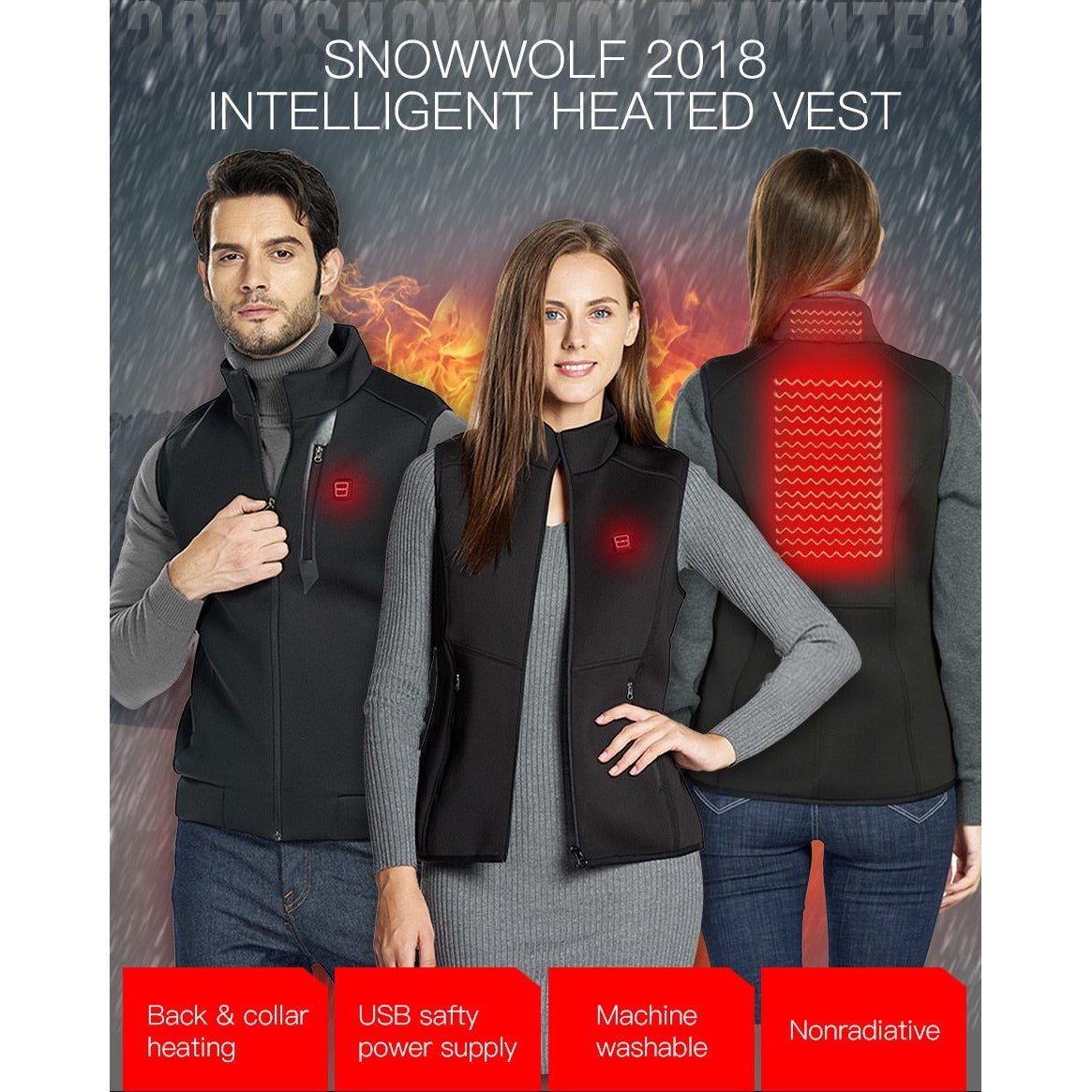 USB Infrared Heating Vest (120-Day Money Back Guarantee)