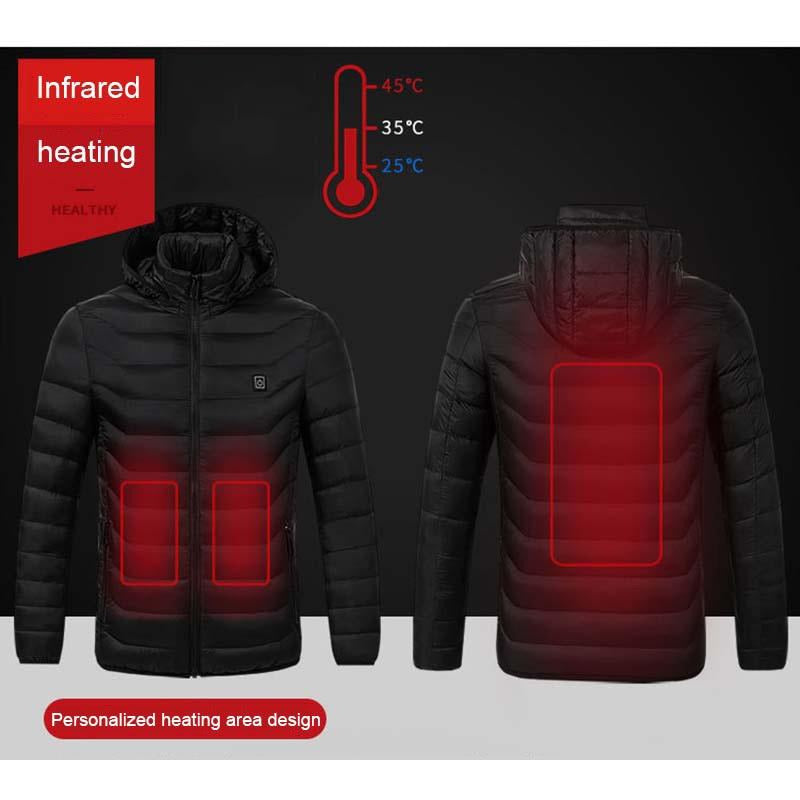 Smart Thermostat Heated Down Coat (120-Day Money Back Guarantee)