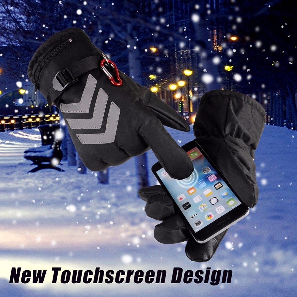 Reflective Touchscreen Enabled Electric Heating Gloves (120-Day Money Back Guarantee)