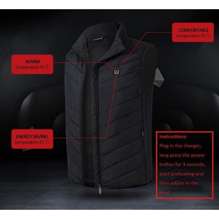 Electric USB Heated Down Vest (120-Day Money Back Guarantee)
