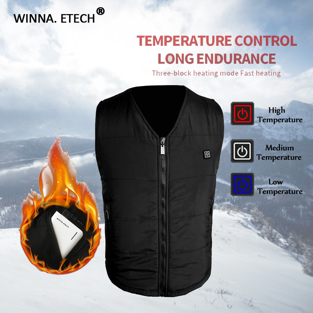 USB Infrared Heating Vest – Perfect for Motorcycle Riders, Hikers, Outdoor Sports, & More! (120-Day Money Back Guarantee)