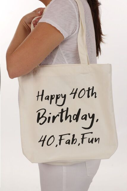 "A unique 40th Birthday Gift - made of 100% cotton. A treat for your ""All Natural"" friend, boss, or coworker."