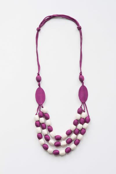 Three Strand Silk Necklace