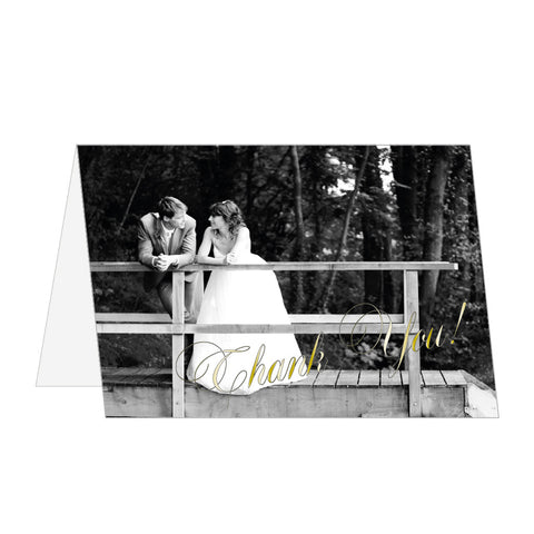 Photographic Thank You Notes, 4 foil colours