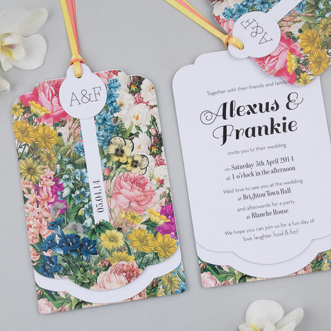 Free Sample - Blooms Luxe Invitation in Summer