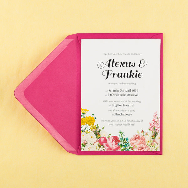 Blooms Classic Save the Date, in Pink & Summer
