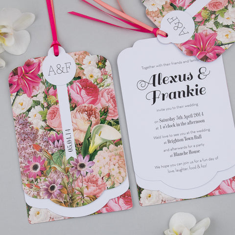 Sample - Blooms Luxe Invitation in Pink