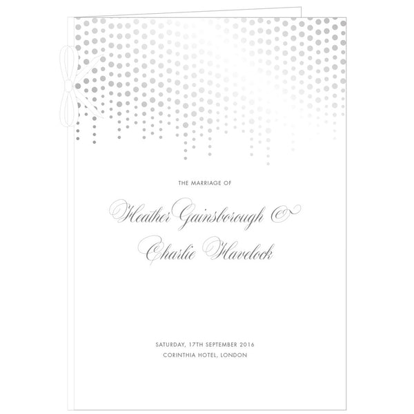 Corinthia Classic Order of Service in Gold, Silver or Lilac foil