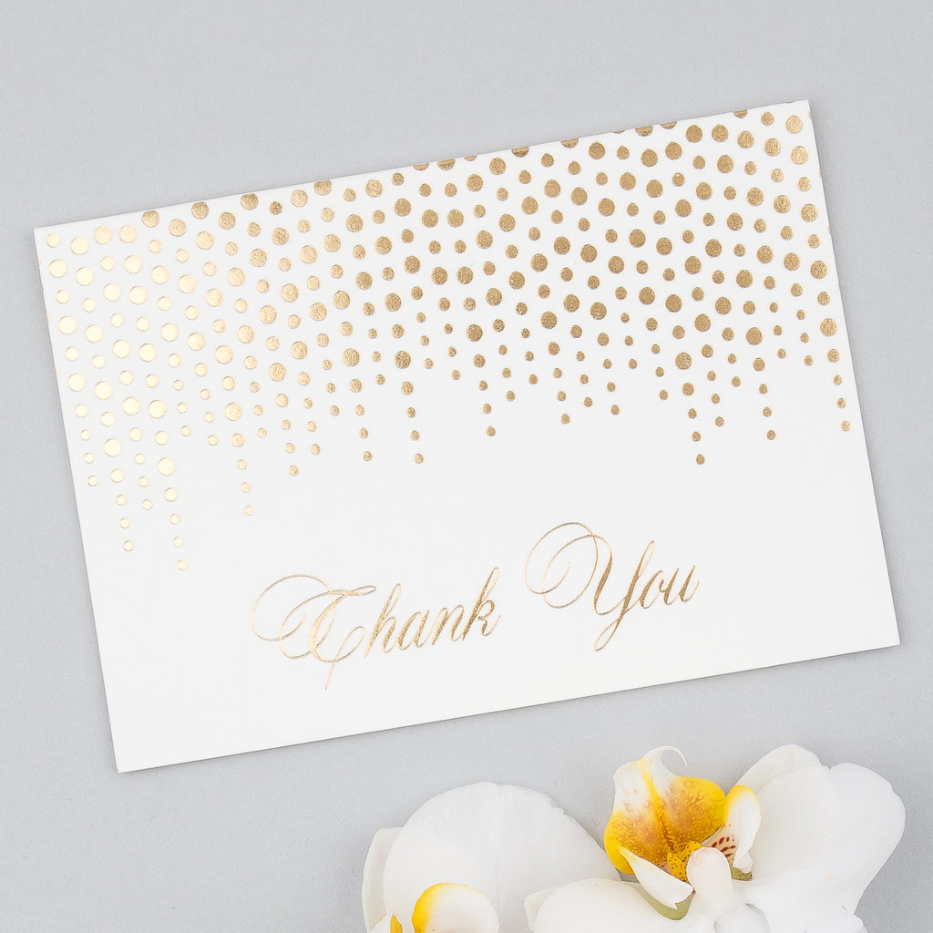 Pack Of 10 Corinthia Thank You Cards Eagle Eyed Bride