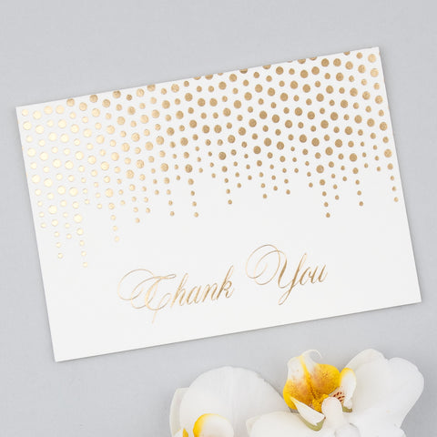 Corinthia Thank You Cards in Gold, Silver & Lilac foils - Pack of 10