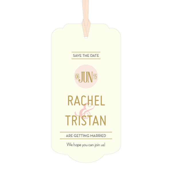 DECOdence Foil Luggage Tag Save the Date