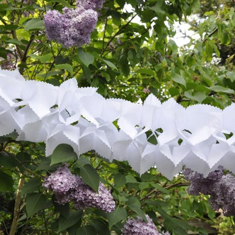Tissue Honeycomb Garland White Pack of 3
