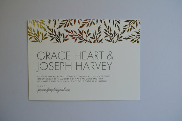 Sample - Herbarium foil Supa Simple Invitation