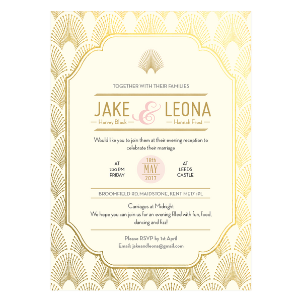 Sample - DECOdence Foil Supa Simple Invitation