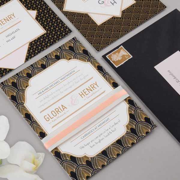 Free Sample - DECOdence Invitation in Black