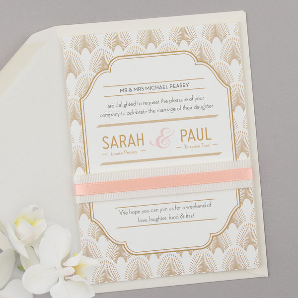 DECOdence Invitation suite in Ivory