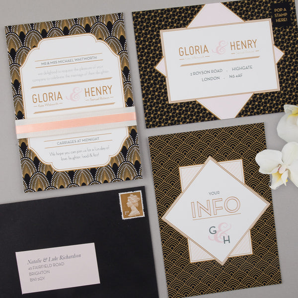DECOdence Invitation suite in Black