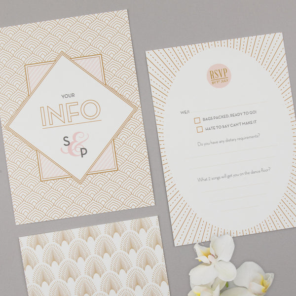 Free Sample - DECOdence Invitation in Ivory