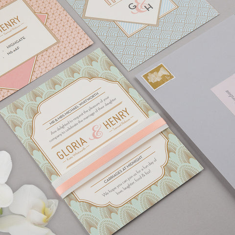 Sample - DECOdence Invitation in Powder Palette