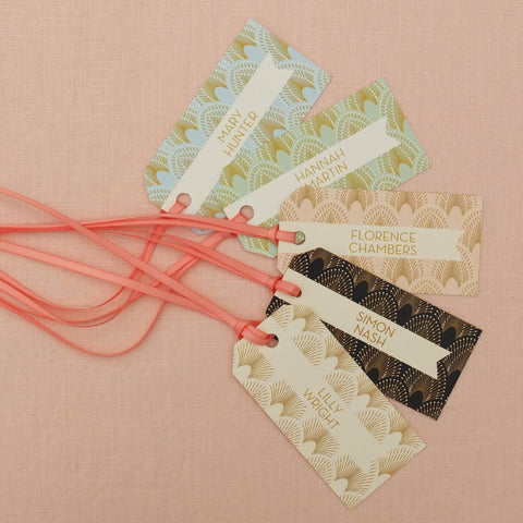 DECOdence Luggage Tag Place Cards