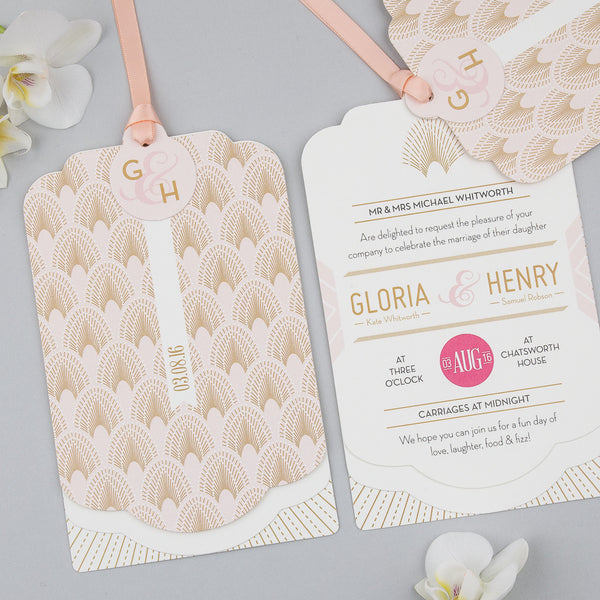 Sample - DECOdence Luxe Invitation in Blush