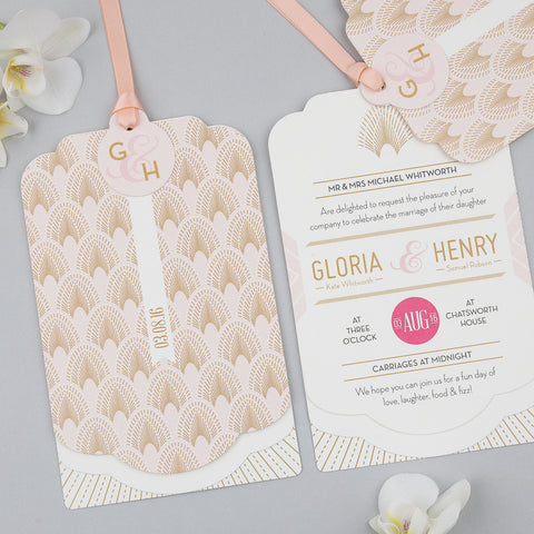 DECOdence Luxe Invitation suite in Blush