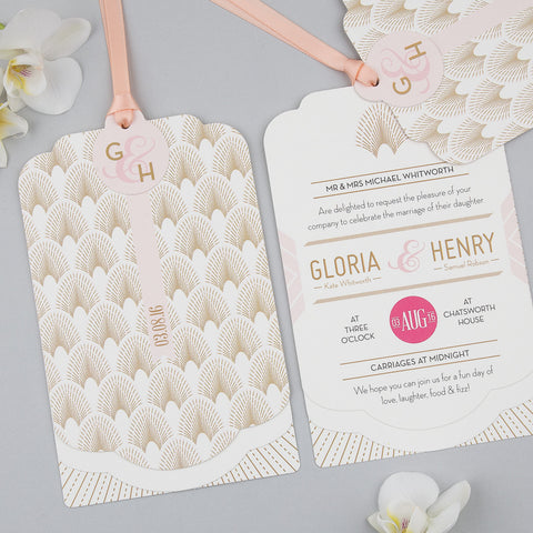 Sample - DECOdence Luxe Invitation in Ivory