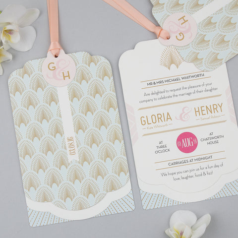 DECOdence Luxe Invitation suite in Powder Palette