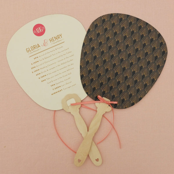 DECOdence Order of the Day Fan, 5 colour options