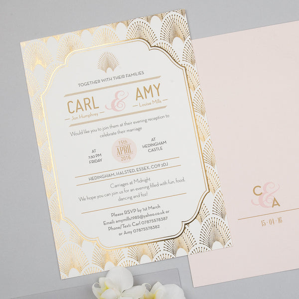 DECOdence Foil Supa Simple Invitation, 6 foil colour options