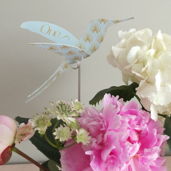 DECOdence Hummingbird Bespoke Table Names