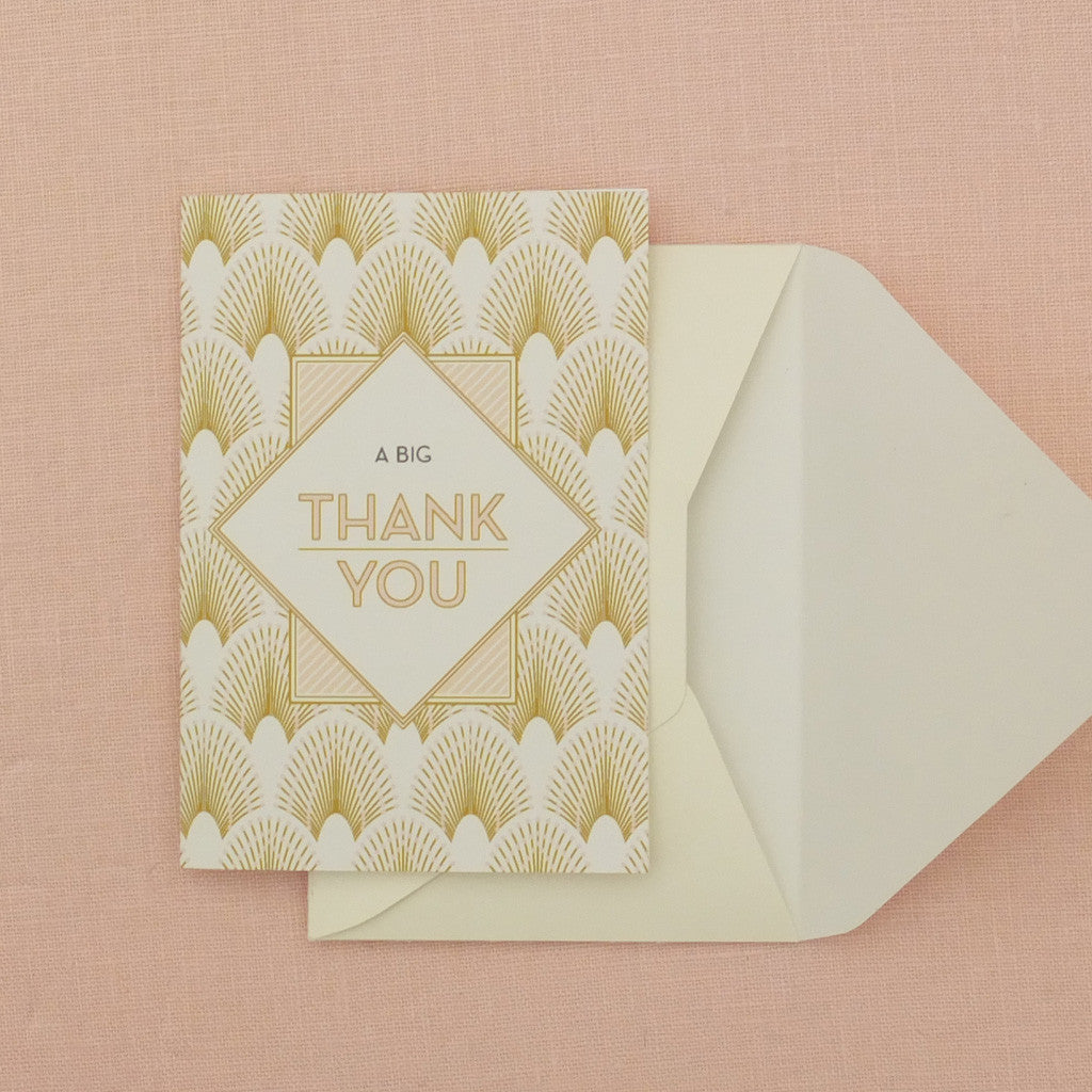Pack Of Decodence Thank You Card 5 Colour Options Eagle Eyed Bride