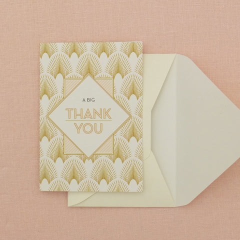Pack of DECOdence Thank You Card, 5 colour options