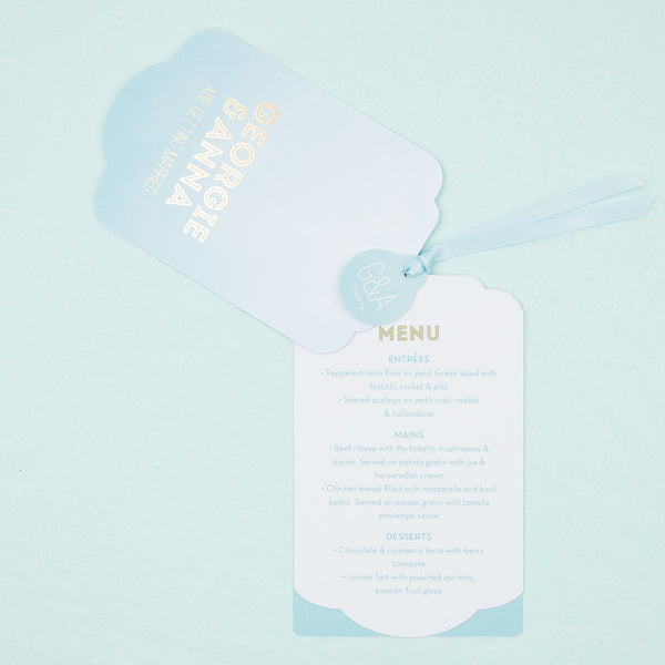 Colour Pop Luxe Invitation in Aquamarine