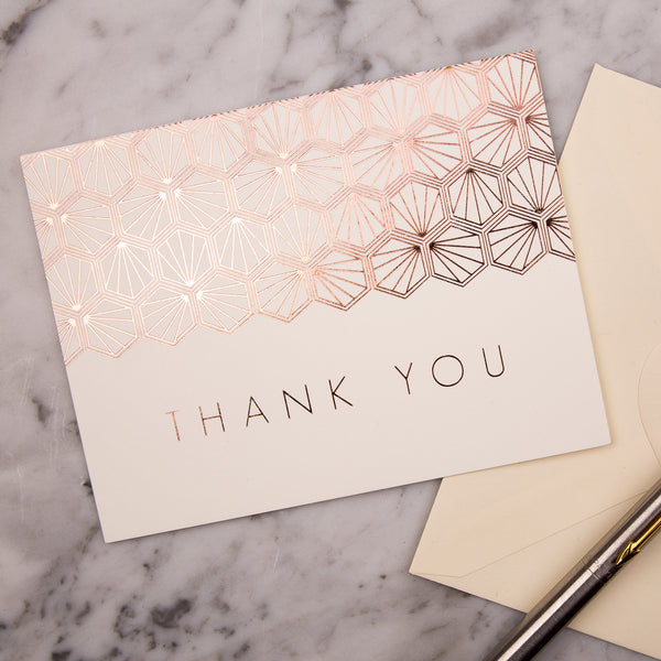 Portofino Foil Thank You Cards, pack of 10
