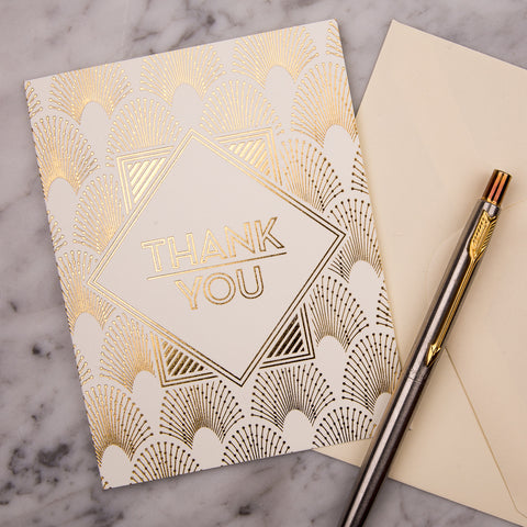 Decodence Foil Thank You Cards - pack of 10